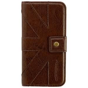 COMMANDER Premium Tasche BOOK CASE Venice Brown für Apple iPhone 6 / 6S
