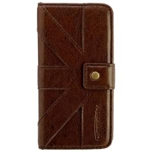 COMMANDER Premium Handytasche BOOK CASE Venice Brown für Samsung Galaxy S6 Edge