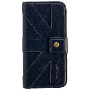 COMMANDER Premium Tasche BOOK CASE Venice Petrol Blue für Apple iPhone 6 / 6S