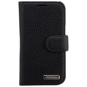 COMMANDER Premium Handytasche BOOK CASE ELITE für Samsung Galaxy J1 - Black