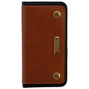 COMMANDER Premium Handytasche Book Case COMBI für Apple iPhone 5 / 5S / SE - Brown