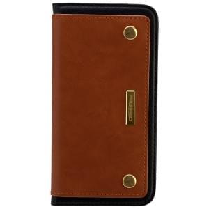 COMMANDER Premium Tasche Book Case COMBI für Samsung Galaxy S6 Edge - Brown