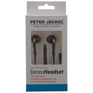 PETER JÄCKEL Stereo Headset 3.5mm Klinke SOUND PRO - Black / Schwarz