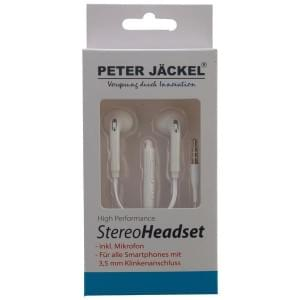 PETER JÄCKEL Stereo Headset 3.5mm Klinke SOUND PRO - White / weiß
