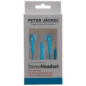 PETER JÄCKEL Stereo Headset 3.5mm Klinke SOUND PRO - Blue