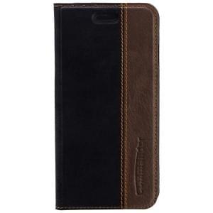 COMMANDER Premium Handytasche BOOK CASE für Apple iPhone 6S - Gentle Black