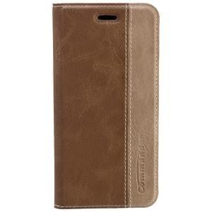 COMMANDER Premium Tasche BOOK CASE für Apple iPhone 6S - Gentle Brown