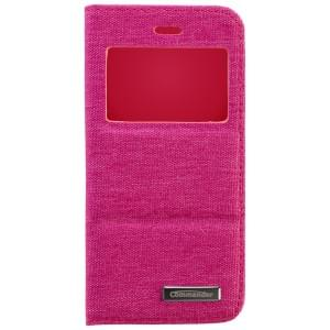 COMMANDER Premium Tasche WINDOW für Apple iPhone 6S - Jeans Pink