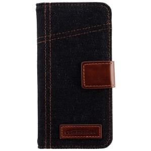 COMMANDER Premium Tasche BOOK CASE ELITE Jeans für Apple iPhone 6S