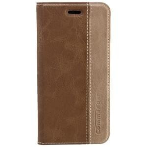 COMMANDER Premium Tasche BOOK CASE für Apple iPhone 6 Plus / 6S Plus - Gentle Brown