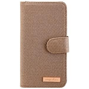 CARPE DIEM Tasche elegantes Book Case mit integriertem Spiegel für Samsung Galaxy S6 - Gold