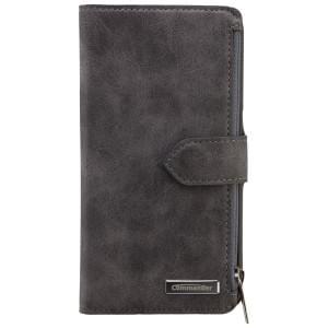 COMMANDER Premium Tasche BOOK CASE WALLET für Samsung Galaxy S6 - Vintage Gray