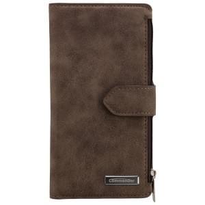 COMMANDER Premium Tasche BOOK CASE WALLET für Samsung Galaxy S6 - Vintage Brown