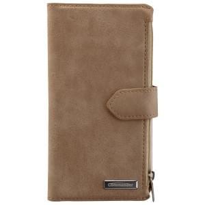 COMMANDER Premium Tasche BOOK CASE WALLET für Samsung Galaxy S6 - Vintage Beige
