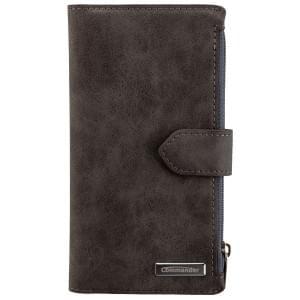 COMMANDER Premium Tasche BOOK CASE WALLET für Samsung Galaxy S6 Edge - Vintage Gray