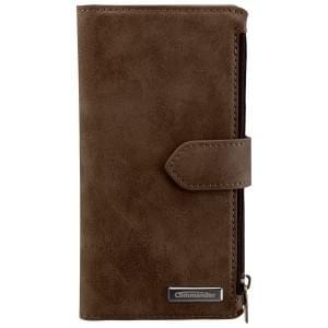 COMMANDER Premium Tasche BOOK CASE WALLET für Samsung Galaxy S6 Edge - Vintage Brown