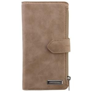 COMMANDER Premium Tasche BOOK CASE WALLET für Samsung Galaxy S6 Edge - Vintage Beige