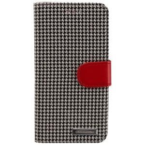 COMMANDER Premium Handytasche BOOK CASE PEPITA für Apple iPhone 6 / 6S