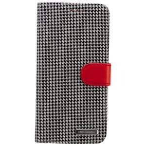COMMANDER Premium Tasche BOOK CASE PEPITA für Samsung Galaxy S6 Edge