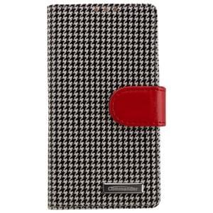 COMMANDER Premium Tasche BOOK CASE PEPITA für Sony Xperia Z5 Compact