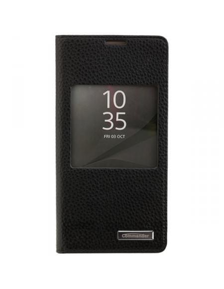 COMMANDER Premium Tasche WINDOW für Sony Xperia Z5 - Black