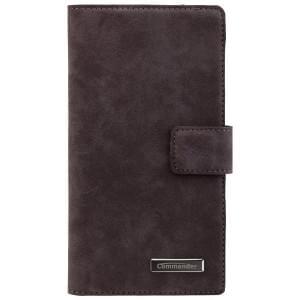 COMMANDER Premium Tasche Book & Cover für Sony Xperia Z5 - Nubuk Gray