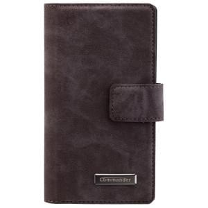 COMMANDER Premium Tasche Book & Cover für Sony Xperia Z5 Compact - Nubuk Gray