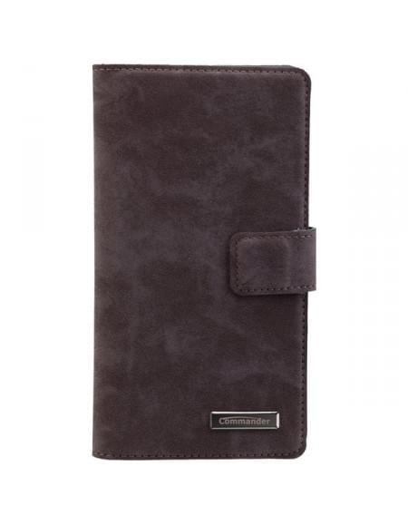 COMMANDER Premium Tasche Book & Cover für Huawei Mate S - Nubuk Gray
