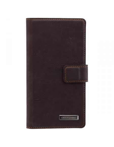 COMMANDER Premium Tasche Book & Cover für Huawei Mate S - Nubuk Brown