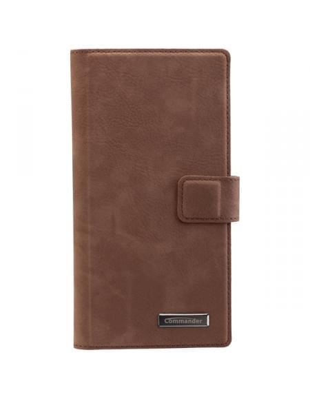 COMMANDER Premium Tasche Book & Cover für Sony Xperia Z5 Premium - Nubuk Brown