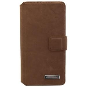 COMMANDER Premium Handytasche BOOK CASE ELITE für Samsung Galaxy A5 (2016) - Nubuk Brown