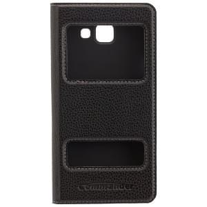 COMMANDER Premium Tasche DOUBLE WINDOW für Samsung Galaxy A5 (2016) - Black