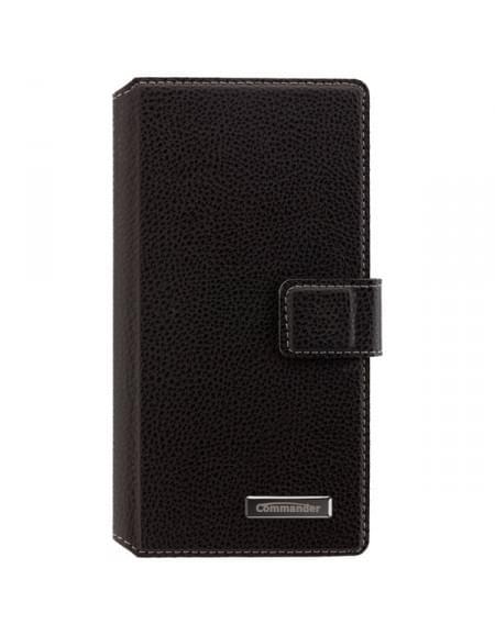 COMMANDER Premium BiColor Tasche für für Sony Xperia M4 Aqua - Black