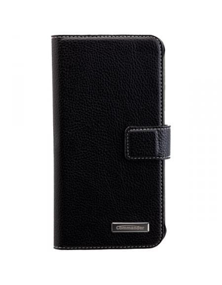 COMMANDER Premium Tasche BOOK CASE ELITE für Samsung Galaxy S7 Edge - Black