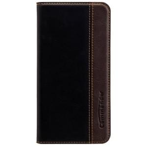 COMMANDER Premium Handytasche BOOK CASE für Samsung Galaxy S7 - Gentle Black