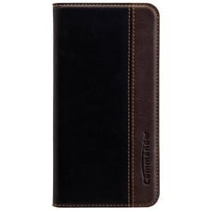COMMANDER Premium Handytasche BOOK CASE für Samsung Galaxy S7 - Gentle Black