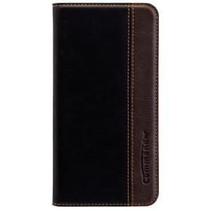 COMMANDER Premium Handytasche BOOK CASE für Samsung Galaxy S7 Edge - Gentle Black