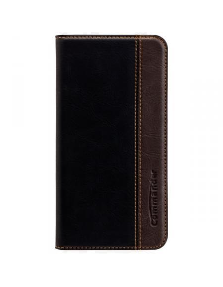 COMMANDER Premium Tasche BOOK CASE für Samsung Galaxy S7 Edge - Gentle Black