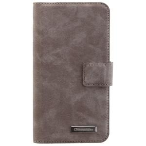COMMANDER Book & Cover 2in1 Handytasche für Samsung Galaxy S7 - Nubuk Gray