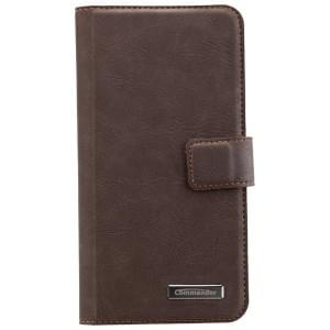 COMMANDER Book & Cover Tasche für Samsung Galaxy S7 Edge - Vintage Brown