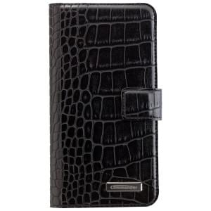 COMMANDER Premium Handytasche Book & Cover für Samsung Galaxy S7 Edge - Croco Black