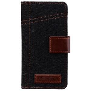COMMANDER Premium Tasche BOOK CASE ELITE Jeans für Samsung Galaxy A3 (2016)
