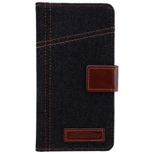 COMMANDER Premium Handytasche BOOK CASE ELITE Jeans für Samsung Galaxy A5 (2016)