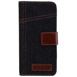 COMMANDER Premium Handytasche BOOK CASE ELITE Jeans für Samsung Galaxy S7