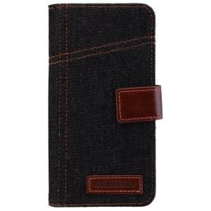COMMANDER Premium Handytasche BOOK CASE ELITE Jeans für Samsung Galaxy S7 Edge