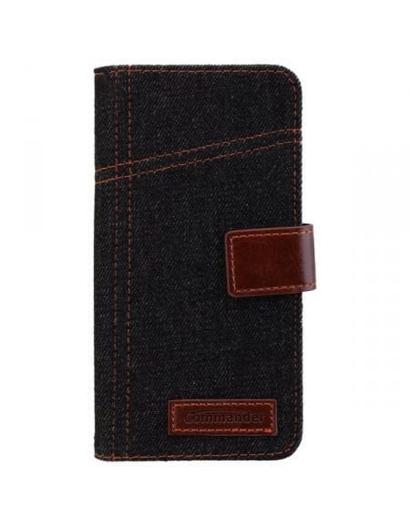 COMMANDER Tasche BOOK CASE ELITE Jeans für Samsung Galaxy S7 Edge