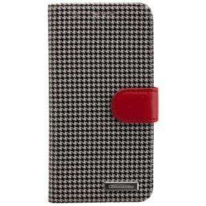 COMMANDER Premium Handytasche BOOK CASE PEPITA für Samsung Galaxy S7