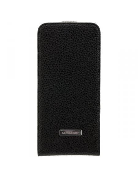 COMMANDER PREMIUM DeLuxe Vertikal Tasche für Samsung Galaxy S7 Edge - Black