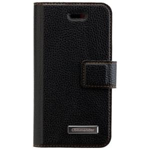 COMMANDER Premium Handytasche Book & Cover für Apple iPhone 5 / 5S / SE - Black