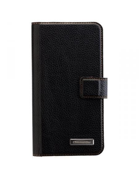COMMANDER Book & Cover Tasche für Samsung Galaxy S7 Edge - Black
